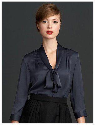 379792845fd9f5 Banana Republic bow blouse http   yhoo.it GBBxq5 Men s Collection