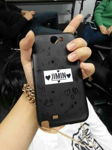 Jimin (Jungkook doodled on his phone case)