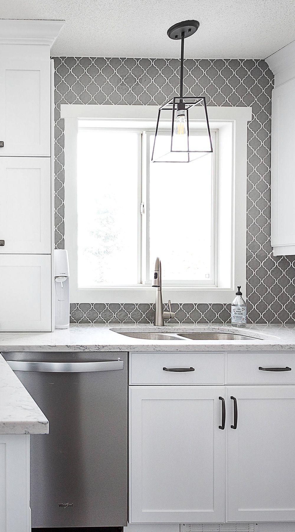 Pin On Gray Kitchen Backsplash Tiles Gray Tile Ideas