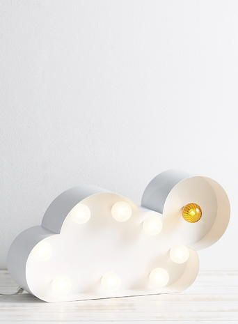 Marquee Fairground And Carnival Style Lighting. Cloud Wall Light Or Table  Lamp, Sun Light, White Lighting. Lighting For Kids Room.