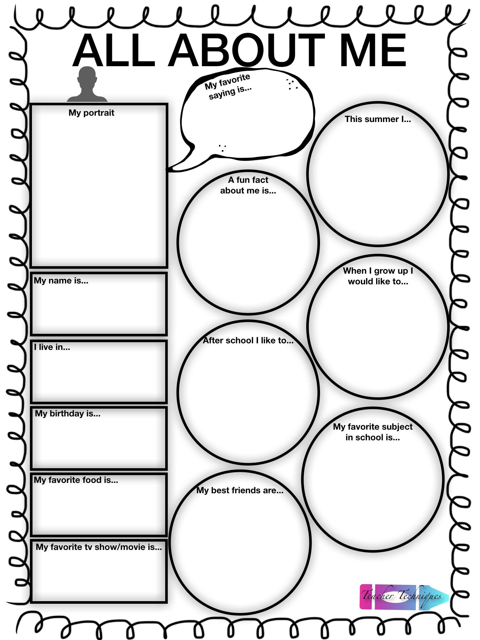 Predownload: All About Me Worksheet Math About Me Graphing Worksheets Kids Math Worksheets [ 2224 x 1668 Pixel ]