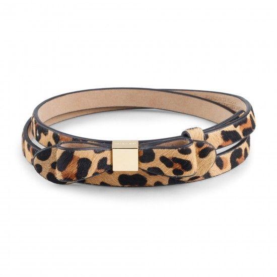 Women's Belts - Calf Hair Skinny Bow Belt   C. Wonder