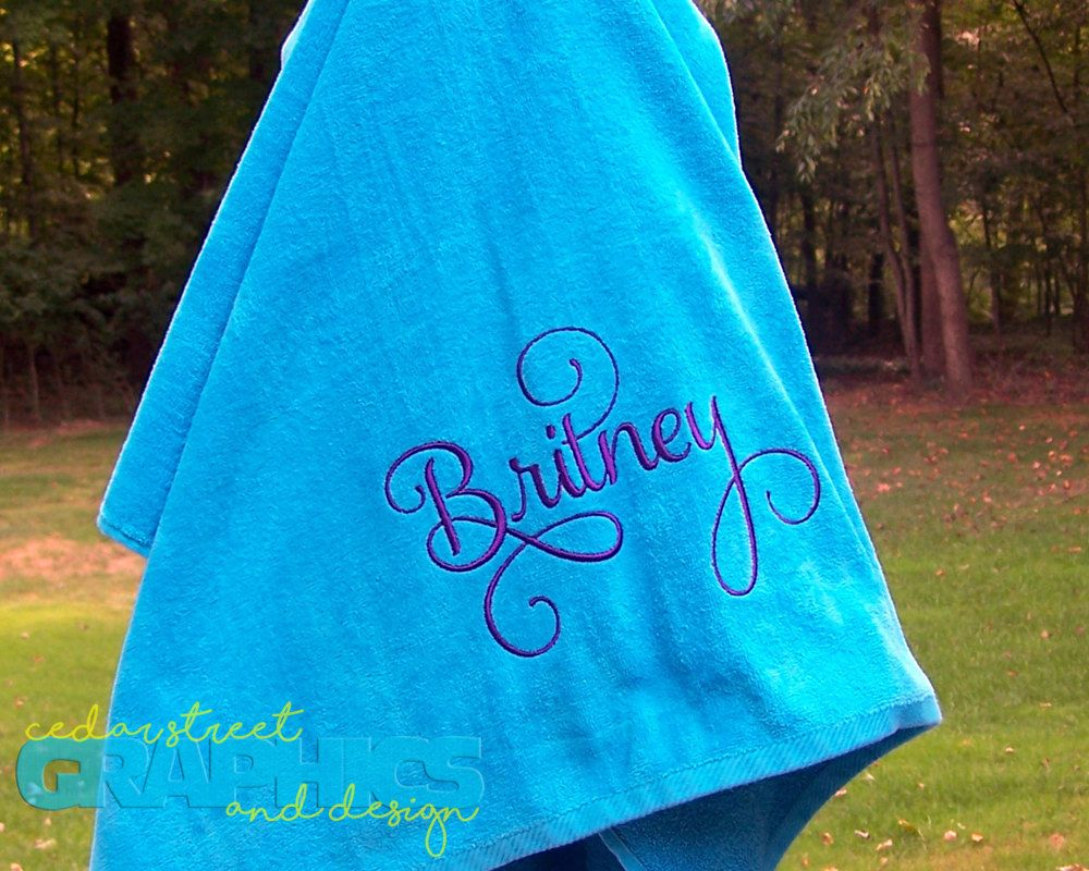 Extra Large Monogrammed Beach Towel Personalized Beach Towel
