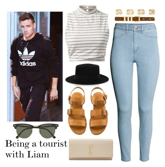 """""""Being a tourist with Liam"""" by memelovely ❤ liked on Polyvore featuring H&M, Yves Saint Laurent, Maison Margiela, Payne and Ray-Ban"""