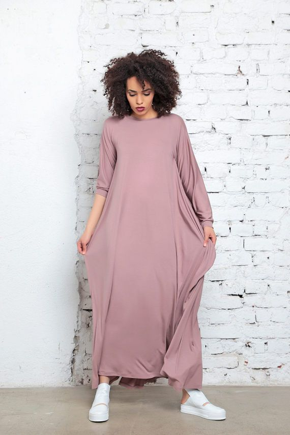 Abaya, Plus Size Clothing, Blush Pink Maxi Dress, Kimono Dress ...