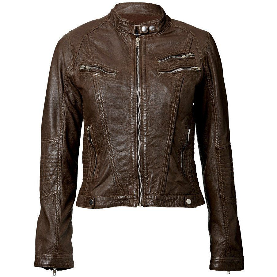 Ladies Elektra Washed Leather Jacket Brown Leather Jackets Women Leather Jacket Women Brown Washed Leather Jacket [ 904 x 904 Pixel ]