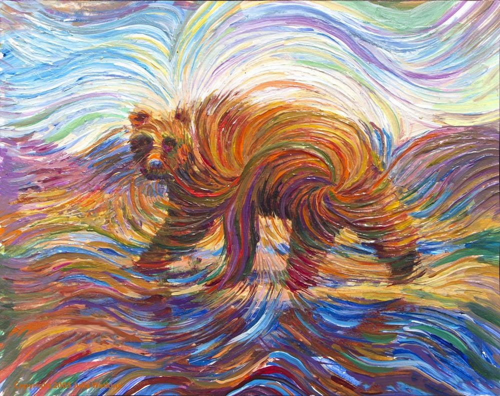 Walking Bear Spirit Energy Painting - Giclee Print | Giclee print ...