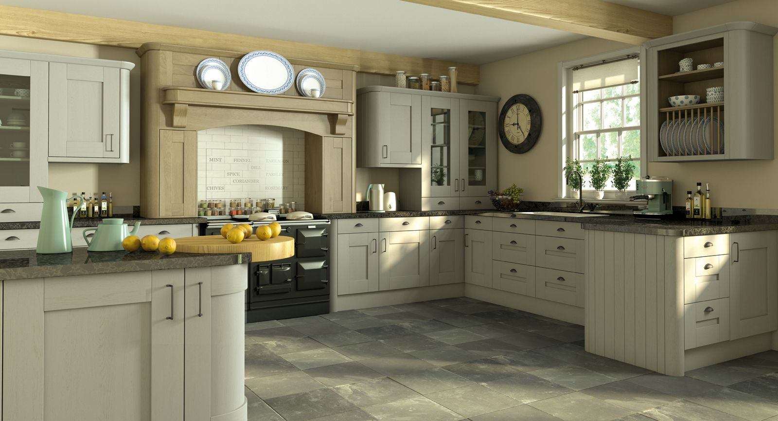 Shaker Dakar & oak | kitchen | Pinterest | Shaker kitchen, Kitchen ...