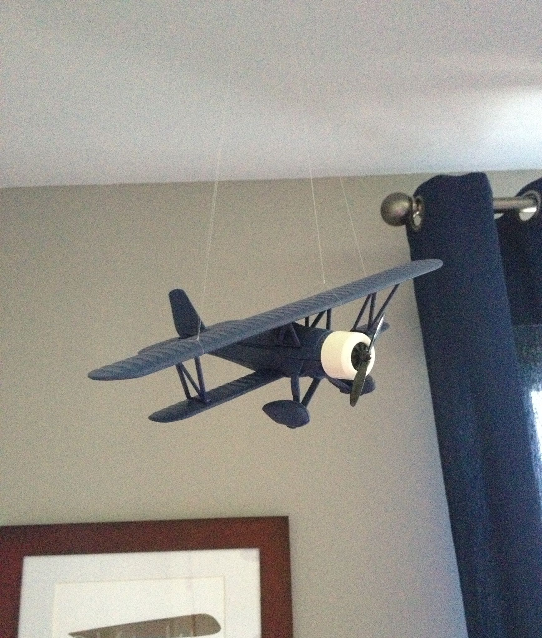 Airplane Bedrooms Hanging Airplanes From Ceiling Studs With Fishing Line