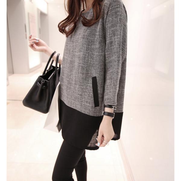 c9ff2ab259 New Women Girl Fashion Korean Fall Top T-Shirt Long Sleeve Loose Casual  Plain