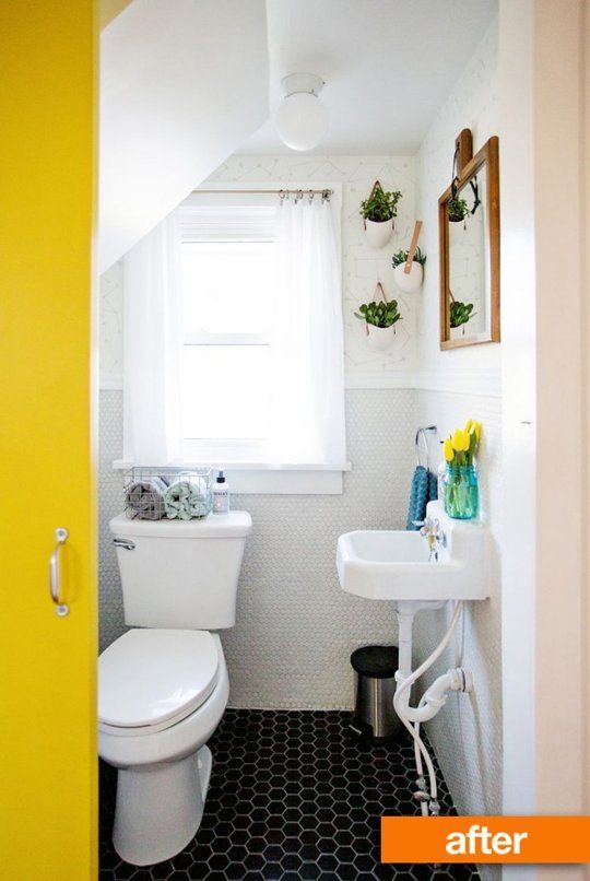 Before & After A Tiny Bathroom Transformed  Tiny Bathrooms Beauteous Before And After Small Bathrooms Inspiration