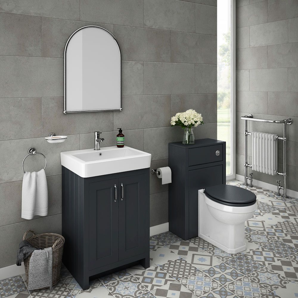 Chatsworth Traditional Graphite Sink Vanity Unit + Toilet ...