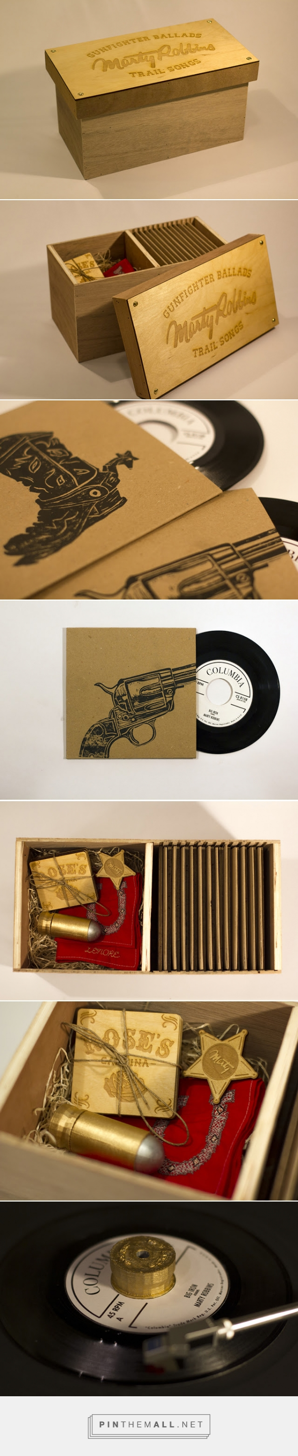 Marty Robbins - Gunfighter Ballads Boxset student #concept #packaging designed by David Meaney - http://www.packagingoftheworld.com/2015/04/marty-robbins-gunfighter-ballads-boxset.html