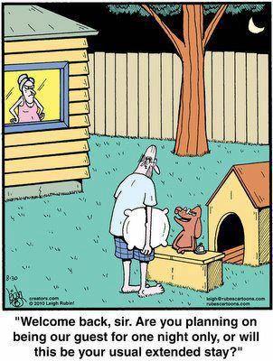 Funny Cartoon Dog House Funny Cartoons Husband Humor Funny