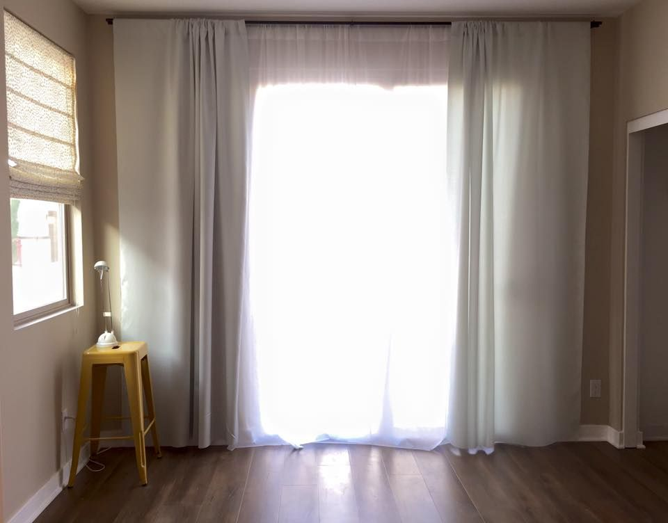 I Have A Sliding Door That Wanted Completely Covered Ceiling To Floor Wall Almost Needed 10 Ft Curtain Rod And Preferre
