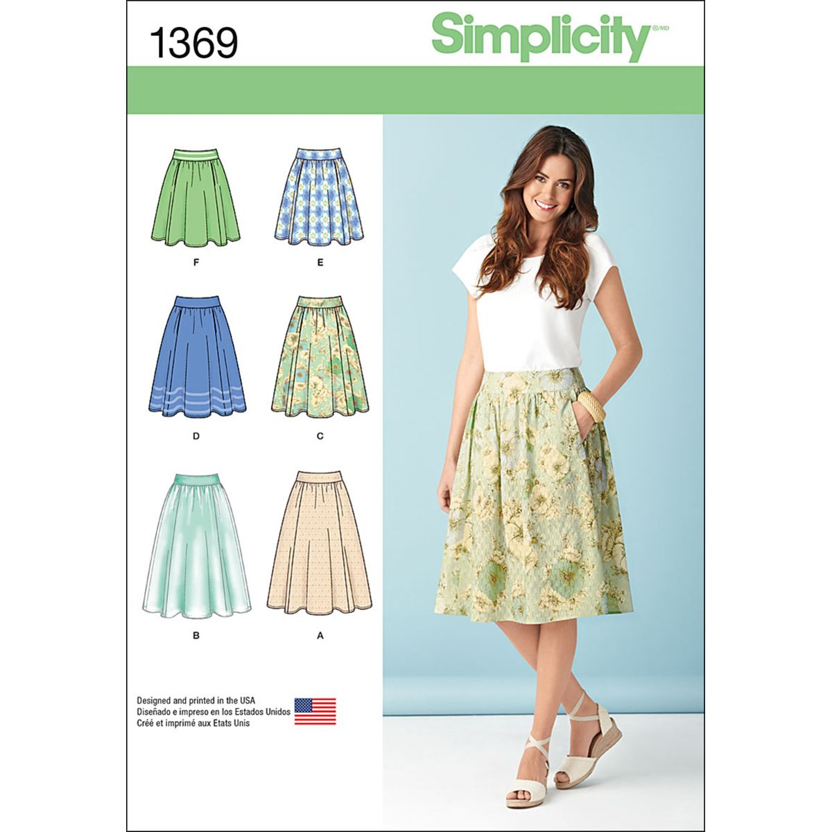Simplicity 8057 Misses/' Skirt in Three Lengths     Sewing Pattern