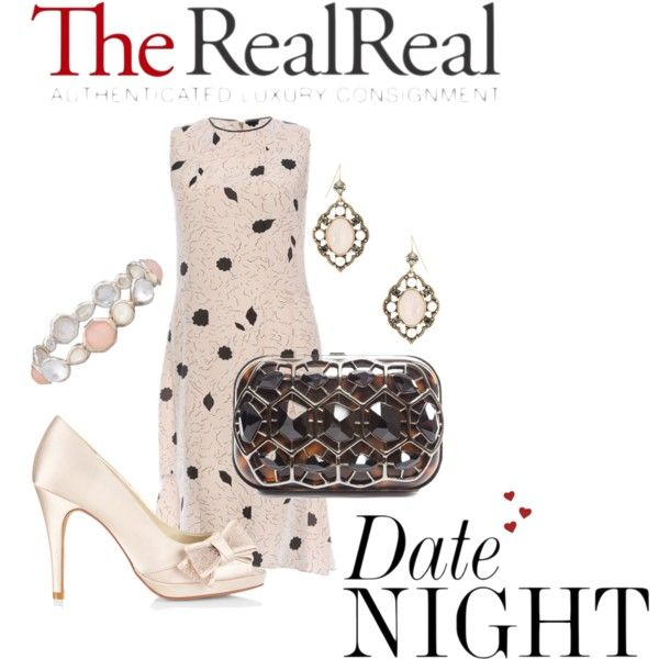 Date Night Dressing with The RealReal: Contest Entry by genellewooding on Polyvore featuring Marni, Monsoon, Judith Leiber, Ippolita and R.J. Graziano