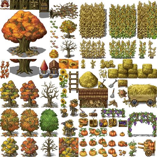 I finally finished my collection Tileset, where have some