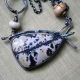Nature's Paintbrush Stone & Sterling Silver Artisan Necklace - Decadence 2 Jewelry