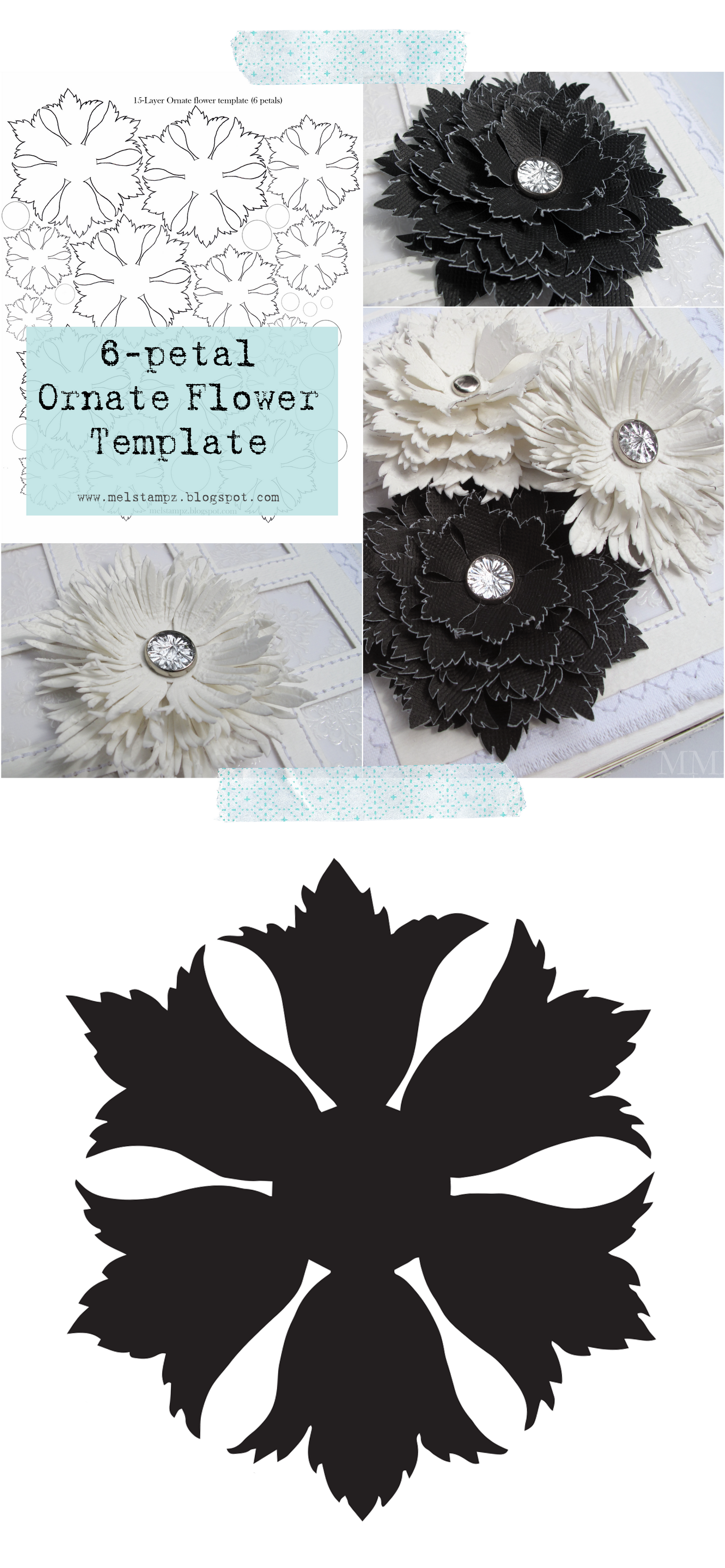 Free Ornate Flower Cut File Svg And Template From Mel Stampz