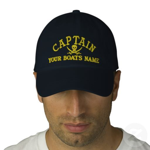 8fd6f0024c6fe Personalized Pirate Sailing Captains Cap  personalized  pirate  sailing   captains  cap