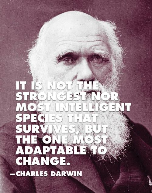Stop Assuming Survival Of The Fittest Means Survival Of The Strongest The Fittest In This Sense Would Be Darwin Quotes Change Quotes Inspirational Quotes