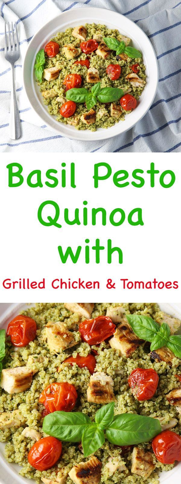 Photo of Basil Pesto Quinoa with Grilled Chicken and Tomatoes – Tastefulventure