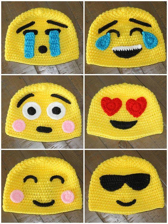 Emoji Crochet Hats - Handmade to Order - Newborn to Adult ...
