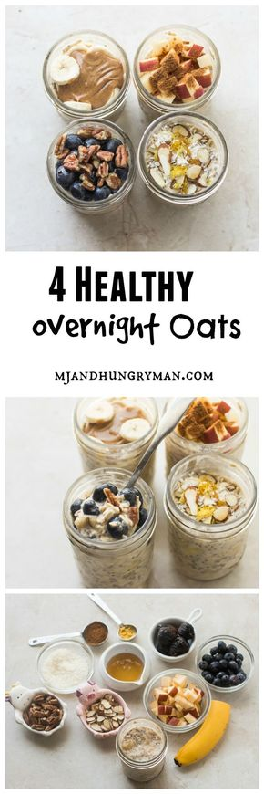 How to make a healthy and delicious overnight oats // MJ and Hungryman