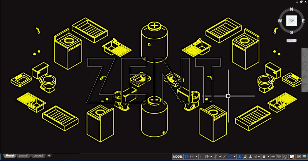 Muebles ba o isometrico zent design 2d autocad premium for Muebles 3d autocad