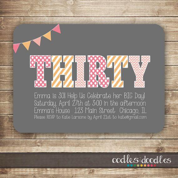 Best 25+ 30th Birthday Invitations Ideas On Pinterest