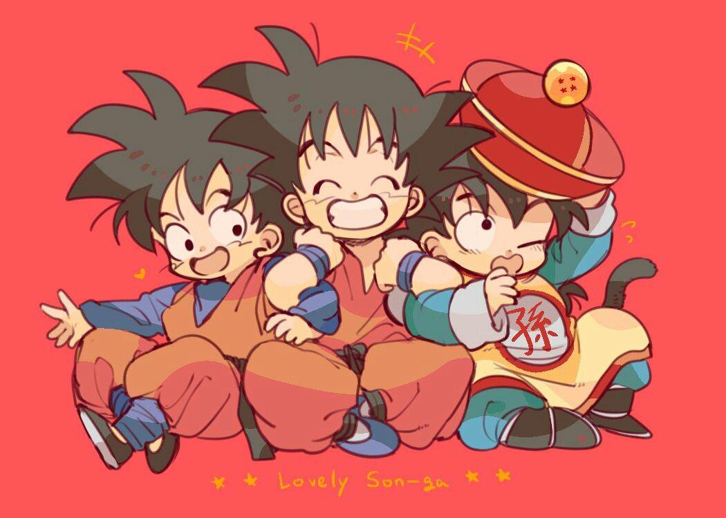 Kid Goku Gohan And Goten W Deal Unzzya Dragon Ball Goku Dragon Ball Artwork Anime Dragon Ball