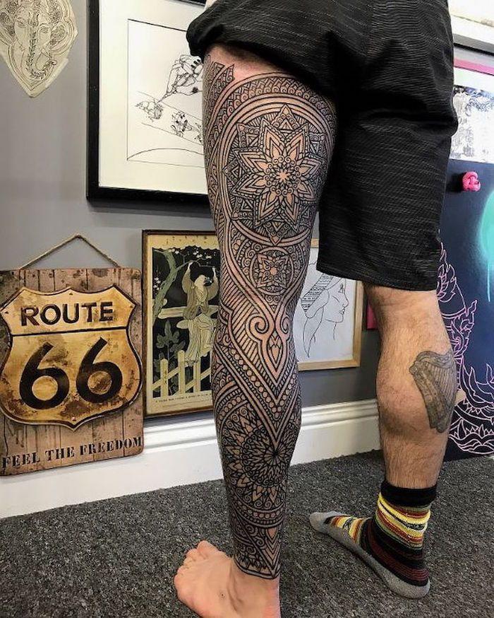 Tatouage jambe \u2013 Faites,vous en de belles en 50 photos