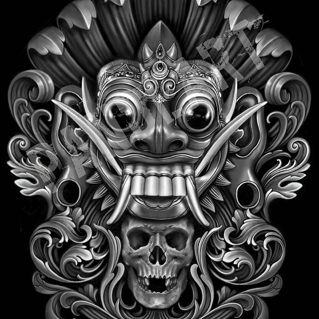 "124 Likes, 5 Comments - pande juliadi (@p4nde_art) on Instagram: ""Done... design for @dewatatattoosupply #ubudtattooshow2 #rarung #rangda #skull #bali #tattoo…"""
