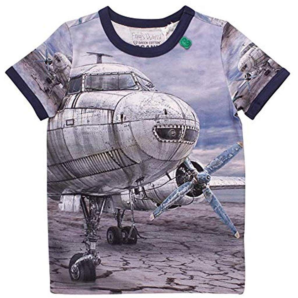 e3297b1bfb Freds World by Green Cotton T-Shirt für Kinder aus Bio-Baumwolle Airplane Gr