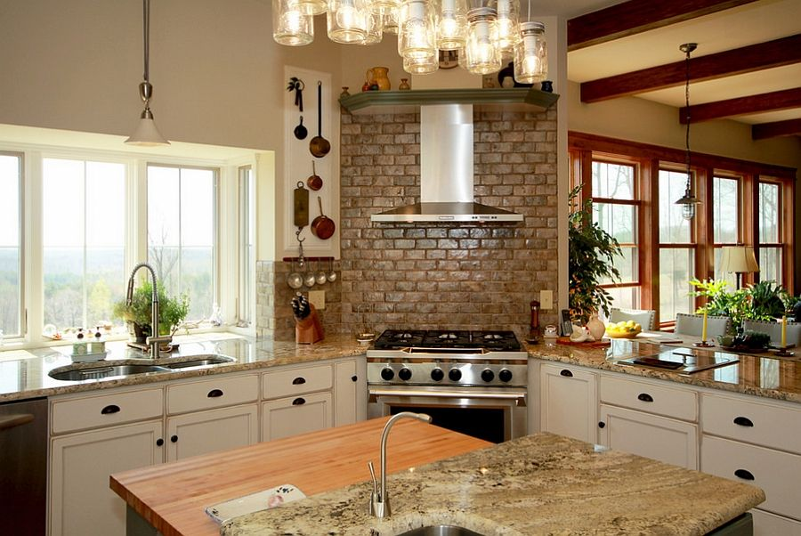 [+] Corner Stove Elegant Kitchen Ideas