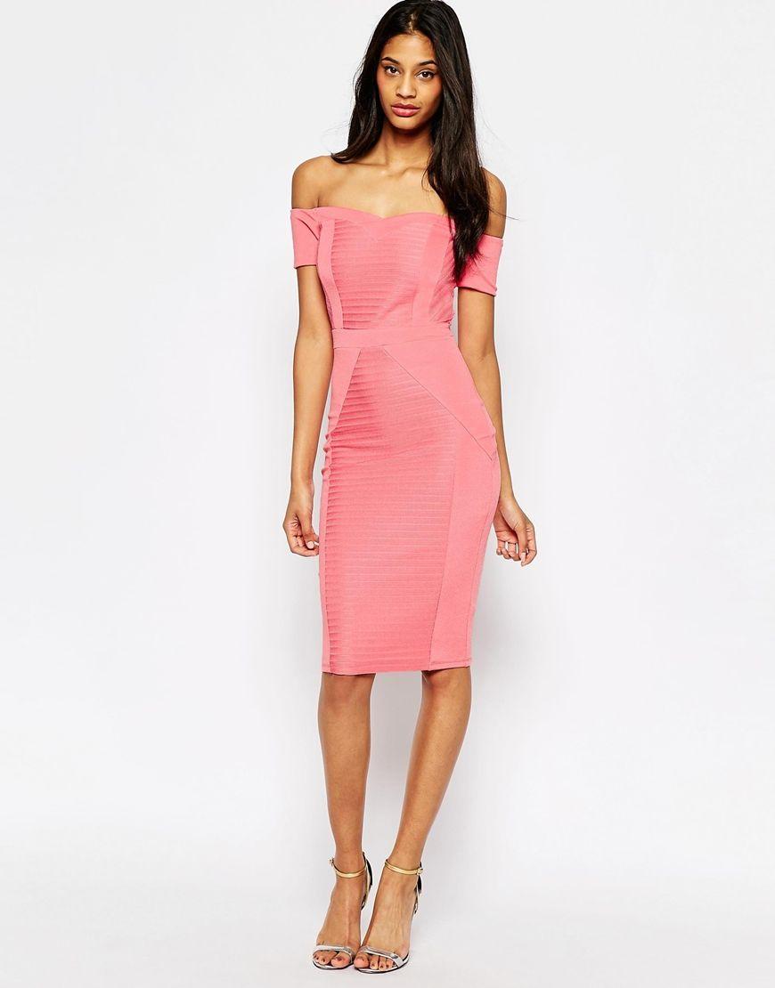 Image 1 of ASOS Bardot Bandage Body-Conscious Dress | Dresses ...