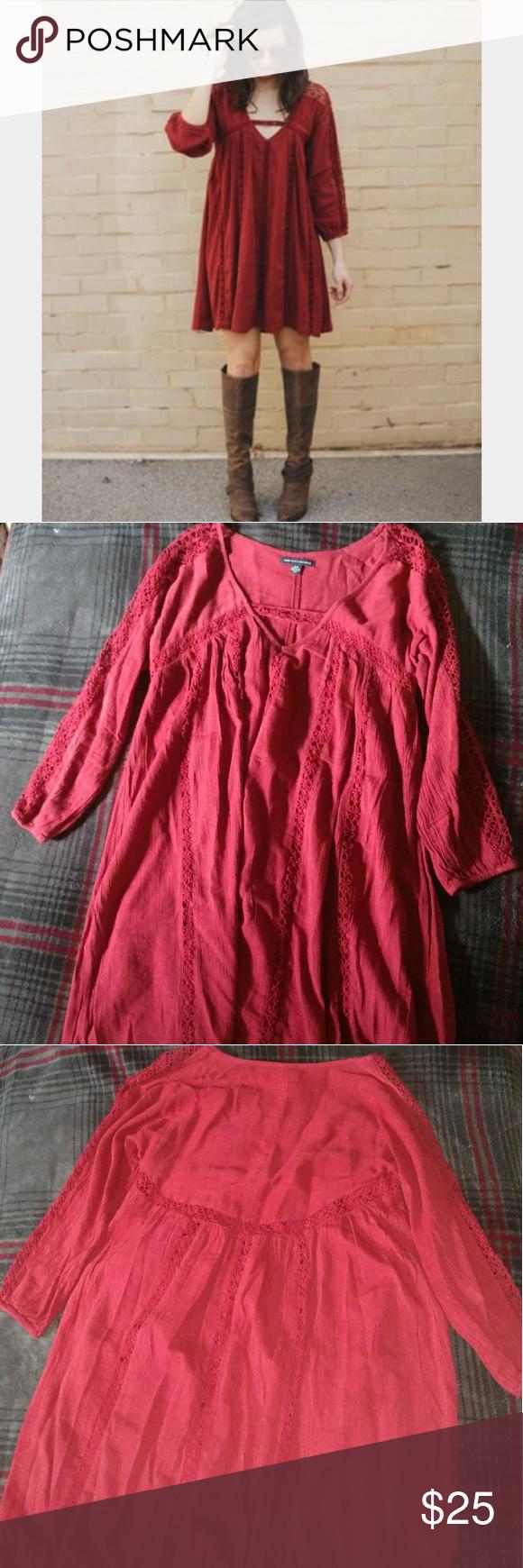 Burgundyred dress