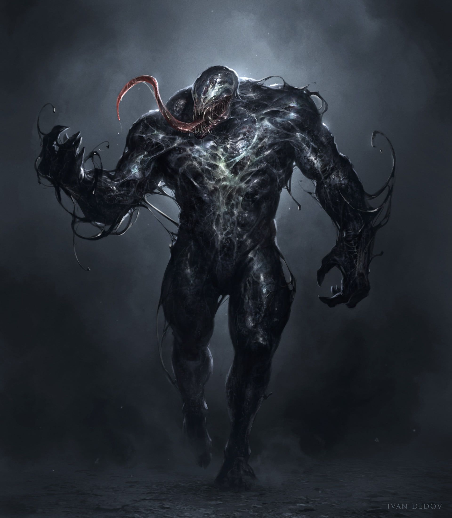 Venom Wallpaper Ivan Dedov Venom Artwork Digital Art Concept Art Creature Spider Man Marvel Comics 2d Symbiote Fan Art Dark Venom Comics Venom Art Venom