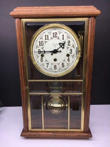 Ansonia Gold Medallion Triple Chime Clock Model 681 Works Greatbr