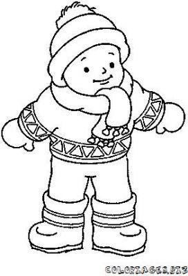 Manteau d 39 hiver colorier recherche google hiver - Coloriage d un enfant ...