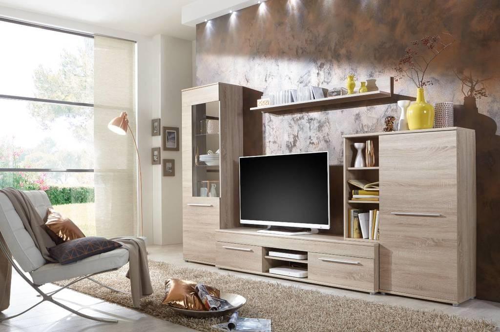 Wohnwand Wohnzimmerschrank Schrankwand Tv Element Anbauwand Cannes