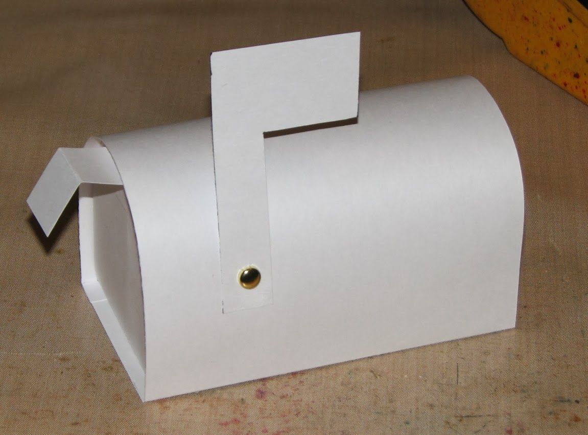 Ink Stains Mini Mailbox Template Instructions boxes