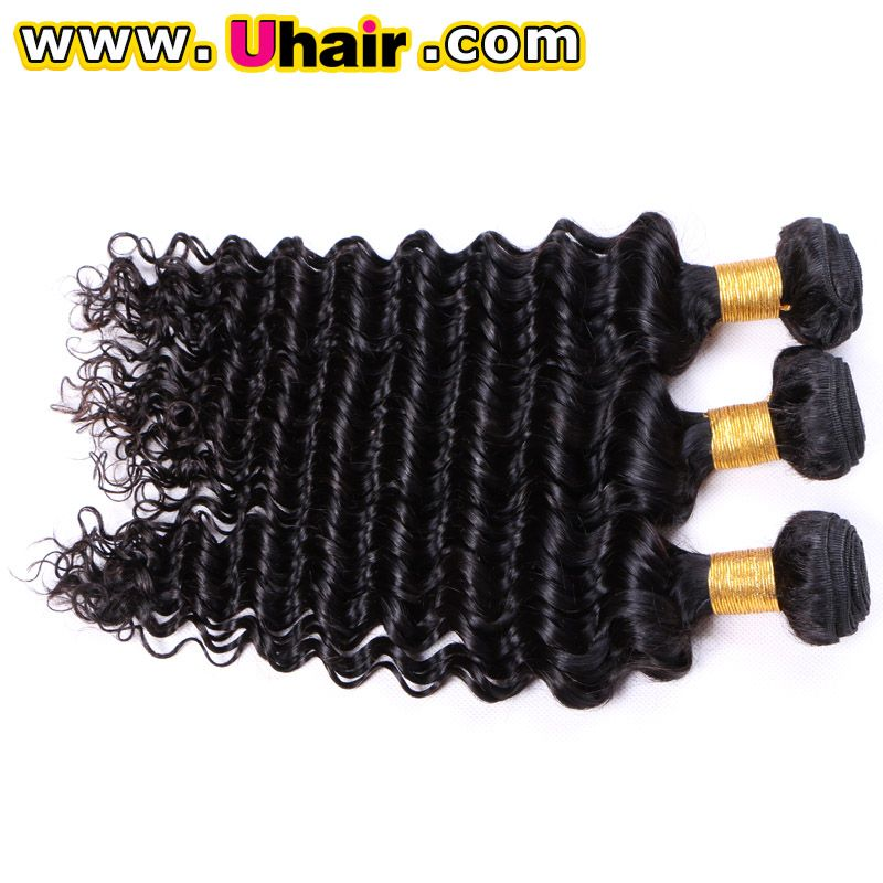 Top Quality Factory Online Sale Indian Hair Weave100 Deep Wave