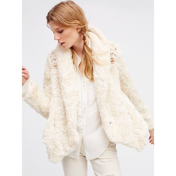 Embroidered Cascade Fur Jacket (11300 RSD) ❤ liked on Polyvore featuring outerwear, jackets, embroidered jacket, embroidery jackets, free people jacket, fur lined jacket and fleece-lined jackets