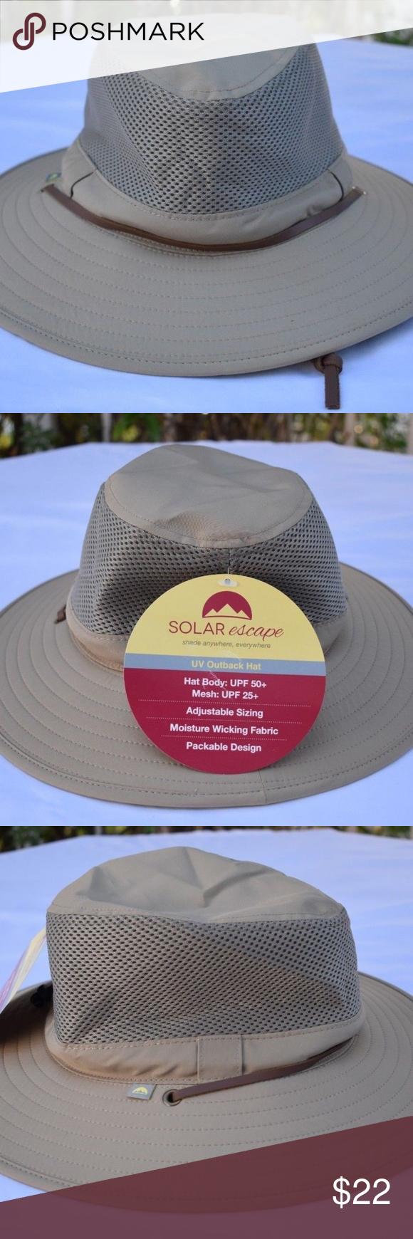 Solar Escape Outback Mens UV Protection Hat- Khaki NWT Solar Escape Outback  Men s UV Protection Hat- Khaki Solar Escape Accessories Hats 1658024baf2