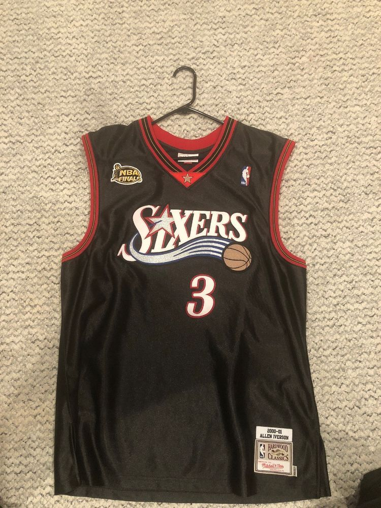 9f6238116 eBay  Sponsored allen iverson mitchell and ness authentic Jersey Size 48  (XL)