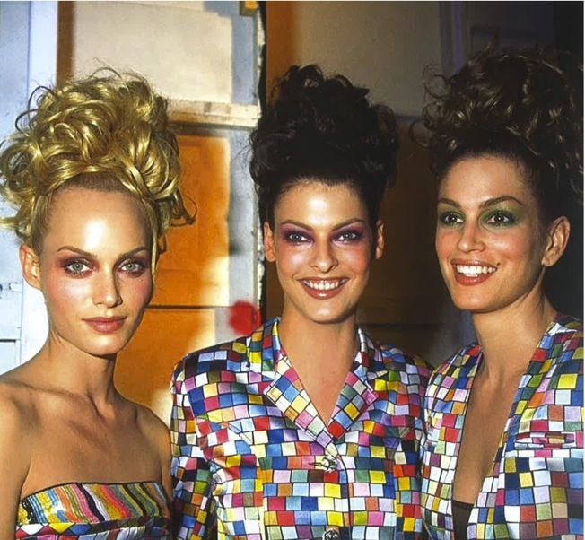 Amber, Linda, and Cindy backstage at Todd Oldham