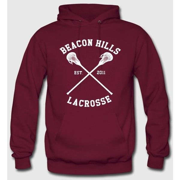 TEEN WOLF Beacon Hills Lacrosse Hoodie (€39) ❤ liked on Polyvore featuring tops, hoodies, hooded sweatshirt, purple hooded sweatshirt, wolf hoodie, sweatshirt hoodies and purple hoodie