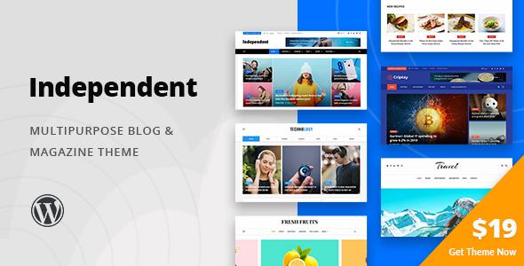 Independent Multipurpose Blog Magazine Theme Compare Life